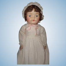 """Early Effanbee 21"""" Composition Baby Doll"""