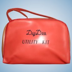 Rare Effanbee Dy-Dee Baby Red Utility Bag ~  Very Hard To Find
