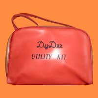 RARE Effanbee Dy-Dee RED Utility Bag for Baby Doll ~ WOW ~ Think Xmas
