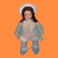 "Early Effanbee 19"" Pretty Composition Mama Doll"