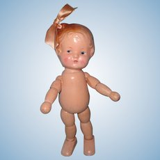J Kallus Wood Segmented and Composition Doll ~ Molded Loop