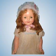 "Effanbee 27"" Marilee Composition BLONDE Mama Doll ~ Pretty"
