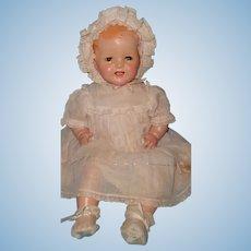 "Ideal 22"" Shirley Temple BABY Composition Doll ~ Flirty Eye w/ Molded Hair"
