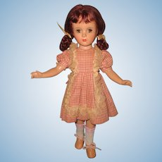Pretty Margaret O'Brien Composition Celebrity Doll ~ Tagged outfit