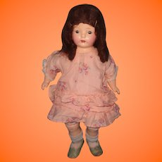 "Factory Original 21"" Composition Mama Doll ~ Sausage Curls"
