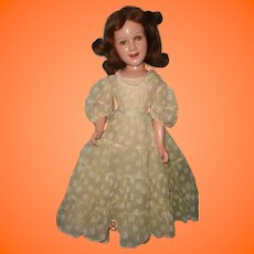 "25"" Ideal Deanna Durbin Composition Doll in Factory Original Dress"