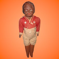 Early Factory Original Composition Black Boy Doll