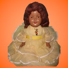 "Pretty 26"" Black Composition Mama Doll"