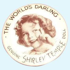 Authentic Ideal Shirley Temple Pin for Composition Doll