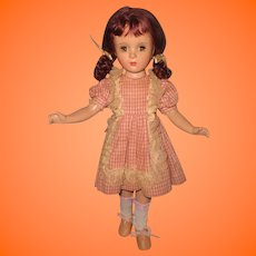 Margaret O' Brien Composition Doll by Madame Alexander ~ Celebrity ~ Tagged dress