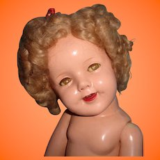 "Large 27"" Ideal Shirley Temple Composition Doll"