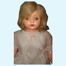 Pretty Factory Original Dolly Reckord Blonde Talking Phonograph Doll ~ Works Great