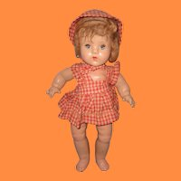 """16"""" Composition Toddler Doll ~ Spring Jointed"""
