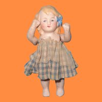 """Adorable 3.5"""" German Limbach Bisque Doll"""