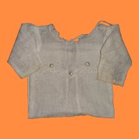 Very Old Factory Doll Chemise for French or German Bisque Doll ~ Blue