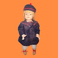"""Nice 25"""" Early Large Chunky Horsman Composition Doll"""