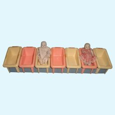 Hospital Nursery Bed Display for Miniature Bisque or Composition Baby Dolls
