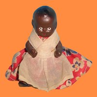 "3"" Bisque Black Factory Original Dollhouse Baby Doll ~ Cutie pie"