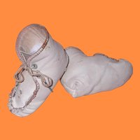 Large Leather Shoes/Booties for Composition Mama or Bisque Baby Doll