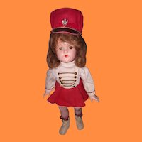 Large Version Effanbee Majorette Composition Doll