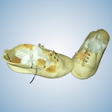 TLC German Large Doll Shoes for Bisque or Composition Doll