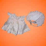 "Effanbee Authentic Dy-Dee Baby Silk Dress & Bonnet for 11"" Doll"