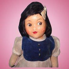 Early Oilcloth Disney Snow White Factory Original Doll