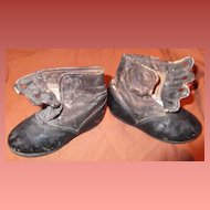Very Old Leather Doll Shoes for your large Bisque or Composition Doll