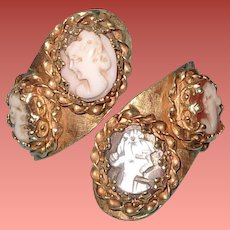 Large 14K Cameo  Type Gold Ring ~ Pretty