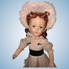 """Factory Original Effanbee 27"""" Southern Belle Composition Doll"""