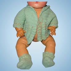 """Effanbee Factory Sweater & Booties for 15"""" Dy-Dee Baby Doll"""