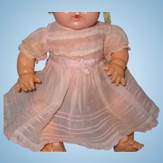 "Authentic Early  Effanbee Dy-Dee Organza Dress for 15"" Baby Doll  TLC"