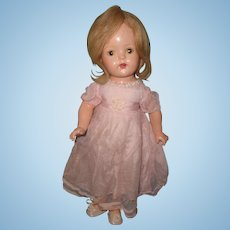 "19"" Princess Elizabeth Composition Doll in Factory Gown by Madame Alexander ~ Parts or Repair"