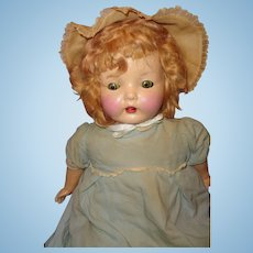 "Early 22"" Chunky Composition Mama Doll ~ Cute"