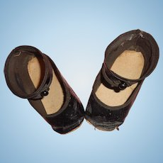 Larger Oil Cloth Shoes for Large Composition or Bisque Doll