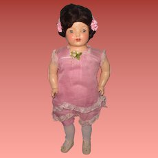 """Early 22"""" Straw Filled Mama Doll ~ Pretty in Pink"""