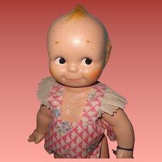Factory Original Kewpie Composition Doll  w/ Original Hang Tag ~ Cameo