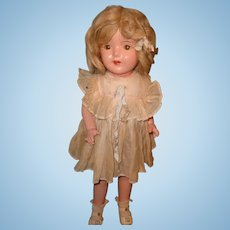 "Very Pretty Factory Original 20"" Composition Walking Doll"