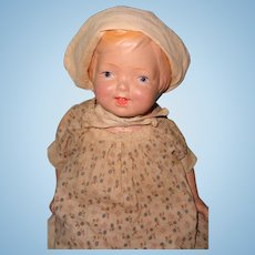 """25"""" Factory Regal Mfg Co Kiddie Pal Molded Girl Composition Doll"""