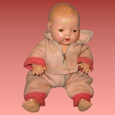 """Effanbee Dy-Dee Pink Eiderdown Snow Suit Set for 15"""" Baby Doll"""
