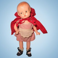 RARE Effanbee Little Red Riding Hood Patsyette Composition Doll ~ Factory Original