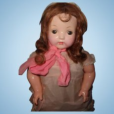Nice Chunky Effanbee Composition Mama Doll ~ Early
