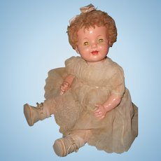 Phonograph Lovums WORKS Talking Composition Baby Doll w/ Cylinder  ~ Effanbee