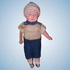 "7"" Dollhouse Biscaloid  boy Marked  Germany"