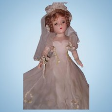 "Magnificent and Rare 21"" Madame Alexander PORTRAIT ""Sally"" Bride Composition Doll"