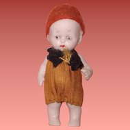 "Jointed Tiny 3"" German Doll in Original Clothing ~ Sooooo Cute"
