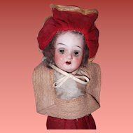 "Adorable Factory Original 8"" Bisque Doll ~ Really Sweet"