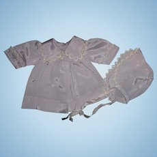 "Authentic Effanbee Dy-Dee Coat & Matching Bonnet Set for 11"" Baby Doll"
