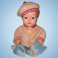 "Adorable Dy-Dee Eiderdown 2 Pc Jacket and hat for 15"" Baby Doll ~ Cute for Boy"