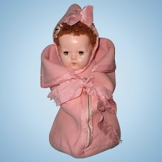 "Authentic Effanbee Dy-Dee 2 pc Pink Bunting for 15"" Baby Doll"